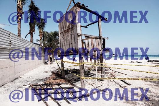 Se incendian tres palapas en Playa Langosta de la zona hotelera de Cancun