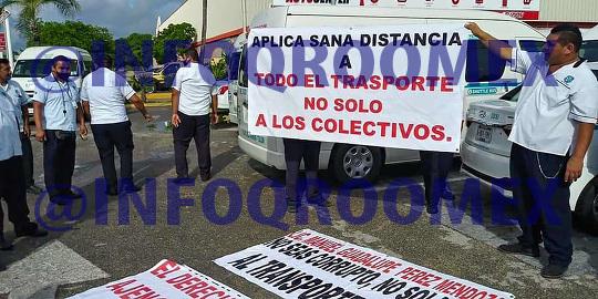 Taxistas se  manifestaron pacificamente